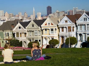 Südwesten USA: Bekannte Häuser im europäischen Stil in San Francsico