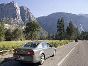 Mietwagen im Yosemite Nationalpark