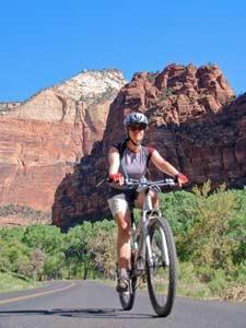 Fahrradtour durch den Zion Nationalpark