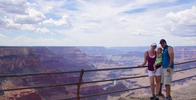 Grand Canyon mit Familie