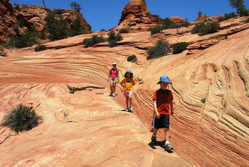 USA mit Kindern - Wandern im Zion Nationalpark