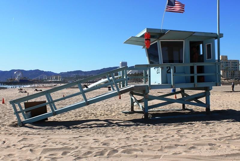 USA mit Kindern - Baywatch-Strandhäuser in Los Angeles