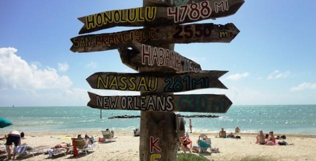 Wegweiser auf den Florida Keys