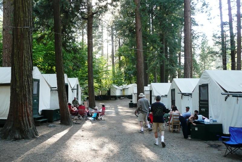 Zeltunterkunft im Yosemite Nationalpark