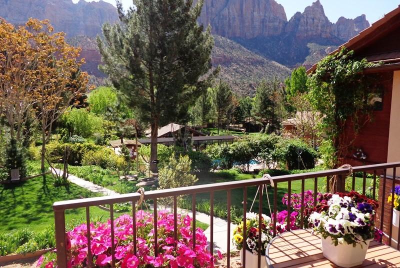 Garten am Hotel im Zion Nationalpark