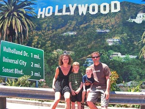 Hollywood mit der Familie bereisen