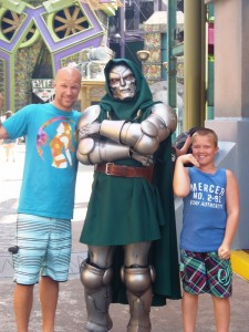 Vater und Sohn in Orlando
