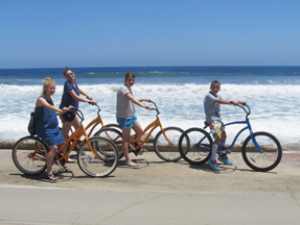 Fahrradtour am Strand