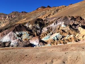 Bunten Felsen der Artist´s Palette im Death Valley