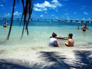 Upper Keys: Kinder am Strand von Bahia Honda