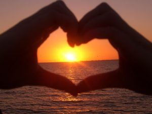 Florida mit Teenagern - Sonnenuntergang am Meer