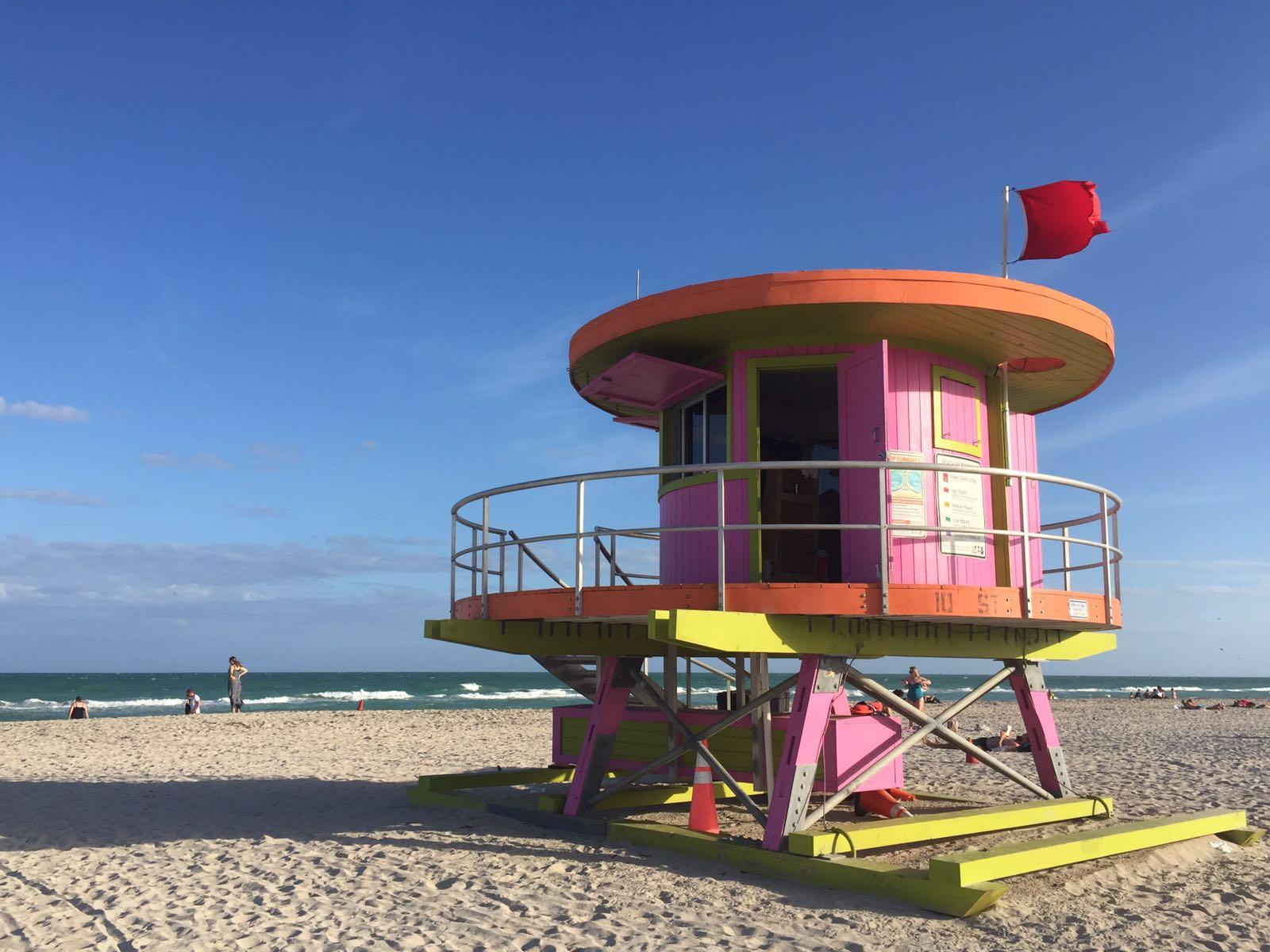 Am Strand von Florida mit Teenagern