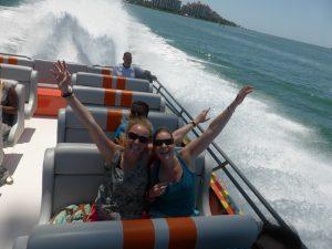 Florida mit Teenagern - im Speedboat