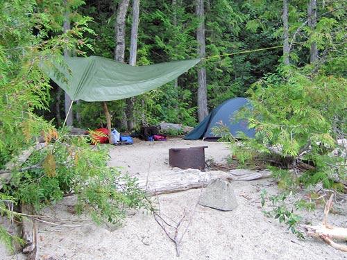 Ein Zeltlager im Wells Gray Provincial Park