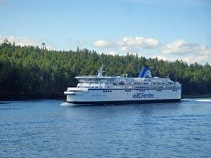 Eine Fähre auf dem Weg nach Vancouver Island