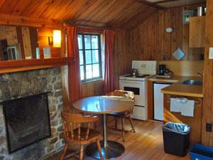 Eine Küche in einer Unterkunft in Jasper.