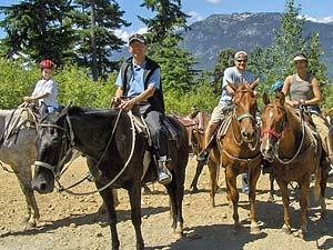 Eine Reitergruppe beim Ausritt