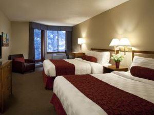 Schlafzimmer im Budget Hotel in Whistler