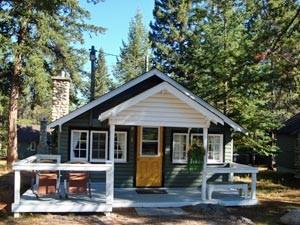 Ein Haus aus Holz in Kanada.