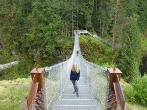 Hängebrücke in Campbell River - Vancouver Island Rundreise