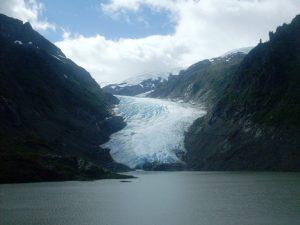 Ausblick auf Gletscher - Hyder