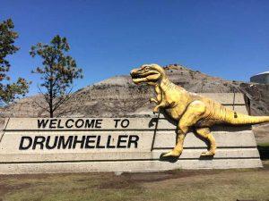 Drumheller Ortseingang - Rundreise von Vancouver bis Calgary