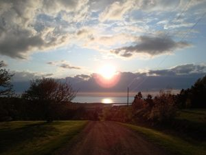 Sonnenuntergang Fundy Nationalpark Atlantikprovinzen Kanada