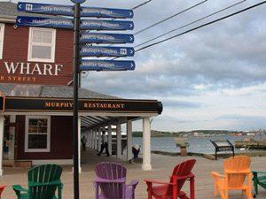 Ausblick am Hafen Halifax in Ost-Kanada