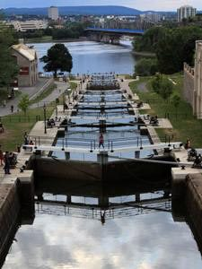 Rideau Kanal in Ottawa Stadtbesichtigung