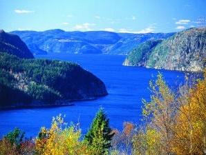 Fjord bei Tadoussac in Kanada