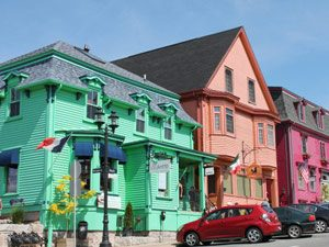 bunte Häuser Lunenburg Atlantikprovinz Kanada
