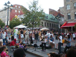 Livemusik Montreal Stadtbummel Sightseeing