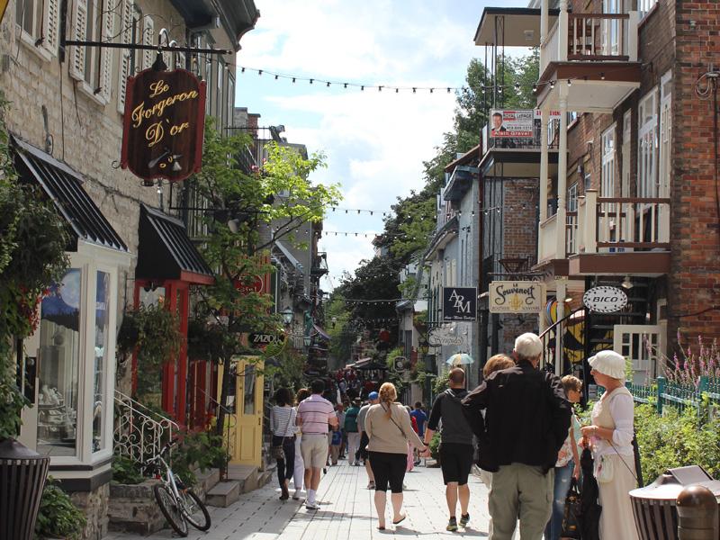 Quebec mit Kindern Gasse Unterstadt