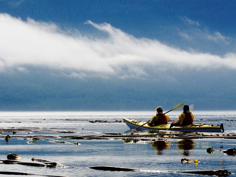 Kajaken auf den Seen Kanadas