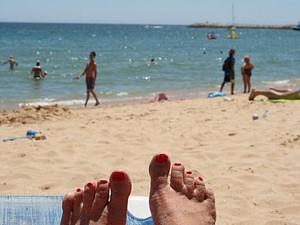 Portugal familiereis met kinderen - strandstoel
