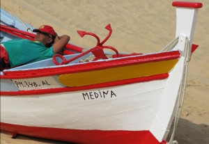 Portugal Nazare vissersboot