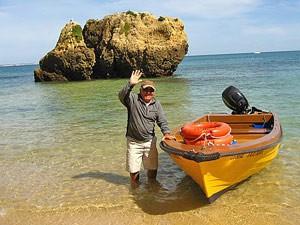portugal reis zwaaiende visser