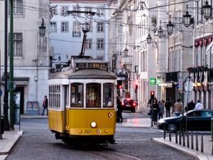 Lissabon tram Portugal