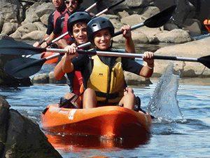 Portugal familiereis met kinderen - kayakken